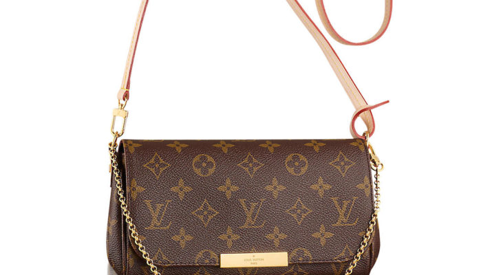 Authentic Louis Vuitton Favorite MM Monogram Canvas Cluth Bag Handbag