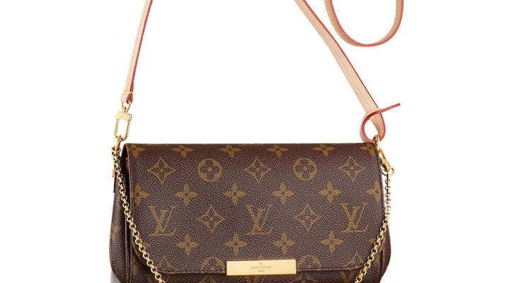 Authentic Louis Vuitton Favorite MM Monogram Canvas Cluth Bag Handbag